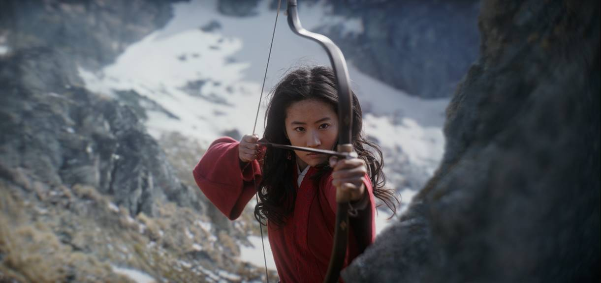 Mulan with bow and arrow