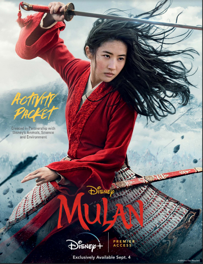 Disney live action Mulan activity packet