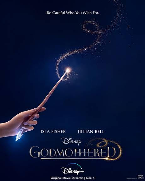 Disney+ Godmothered Poster, Disney+ Godmothered Parent Movie Review