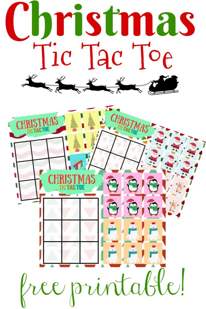 printable Christmas tic tac toe