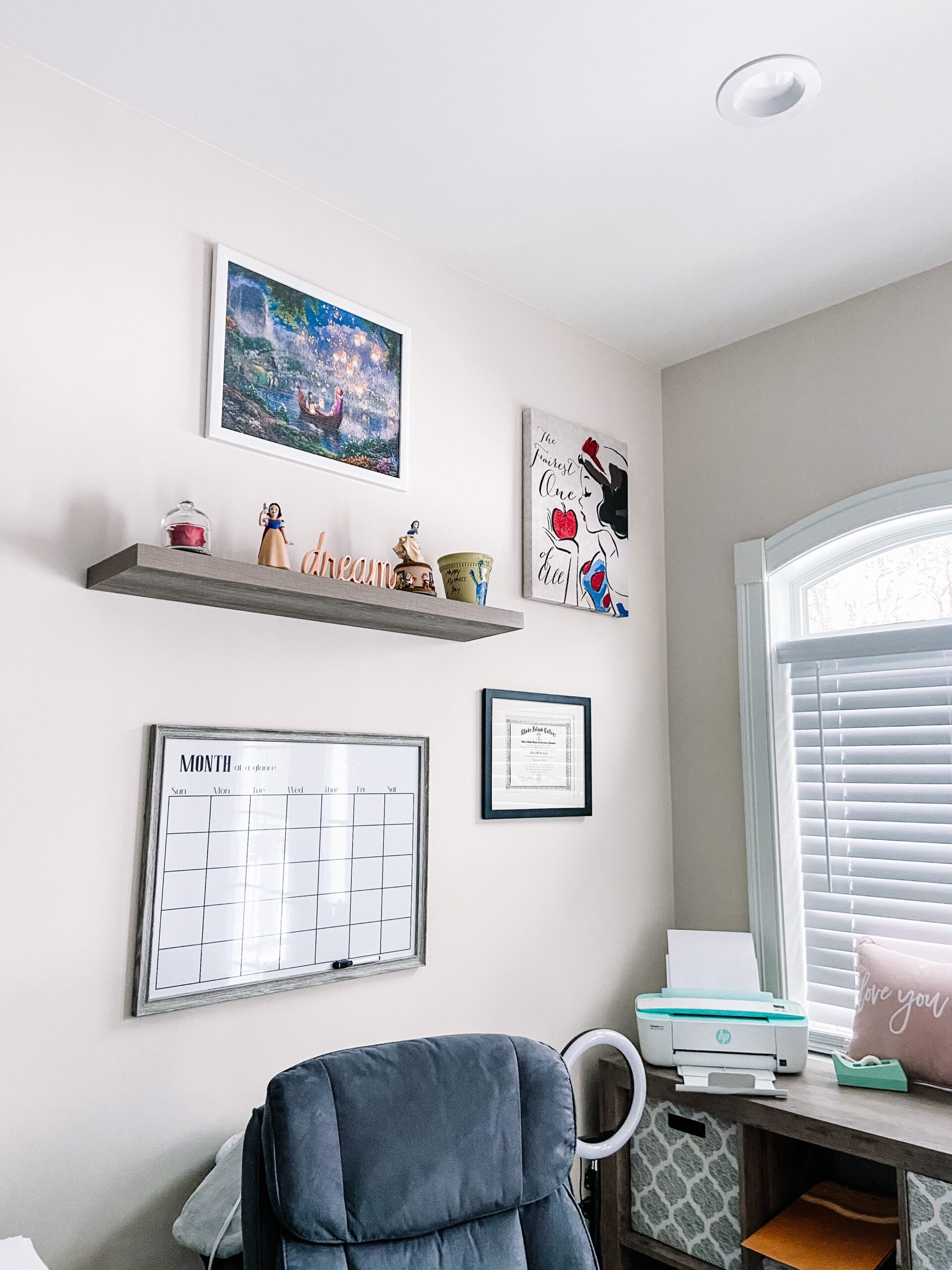 office decor with disney touches