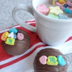 Lucky Charms marshmallow hot chocolate bombs