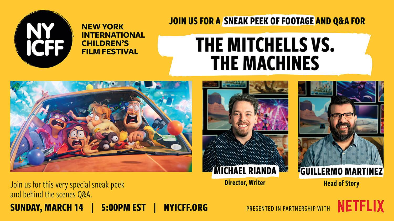 The Mitchells vs The Machines NYICFF, New York International Children's Film Festival