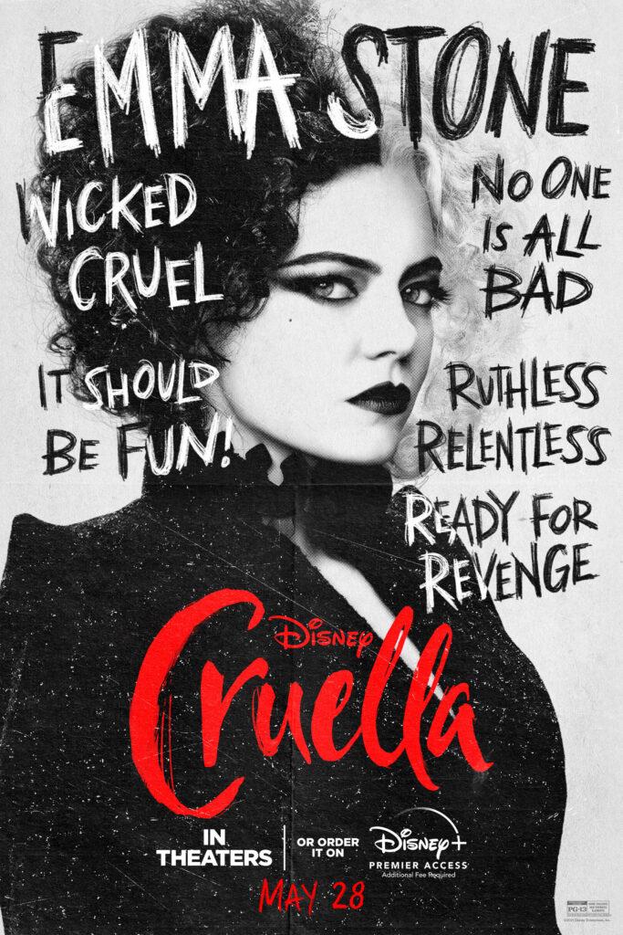 Cruella Featurette, Cruella Emma Stone Character Poster
