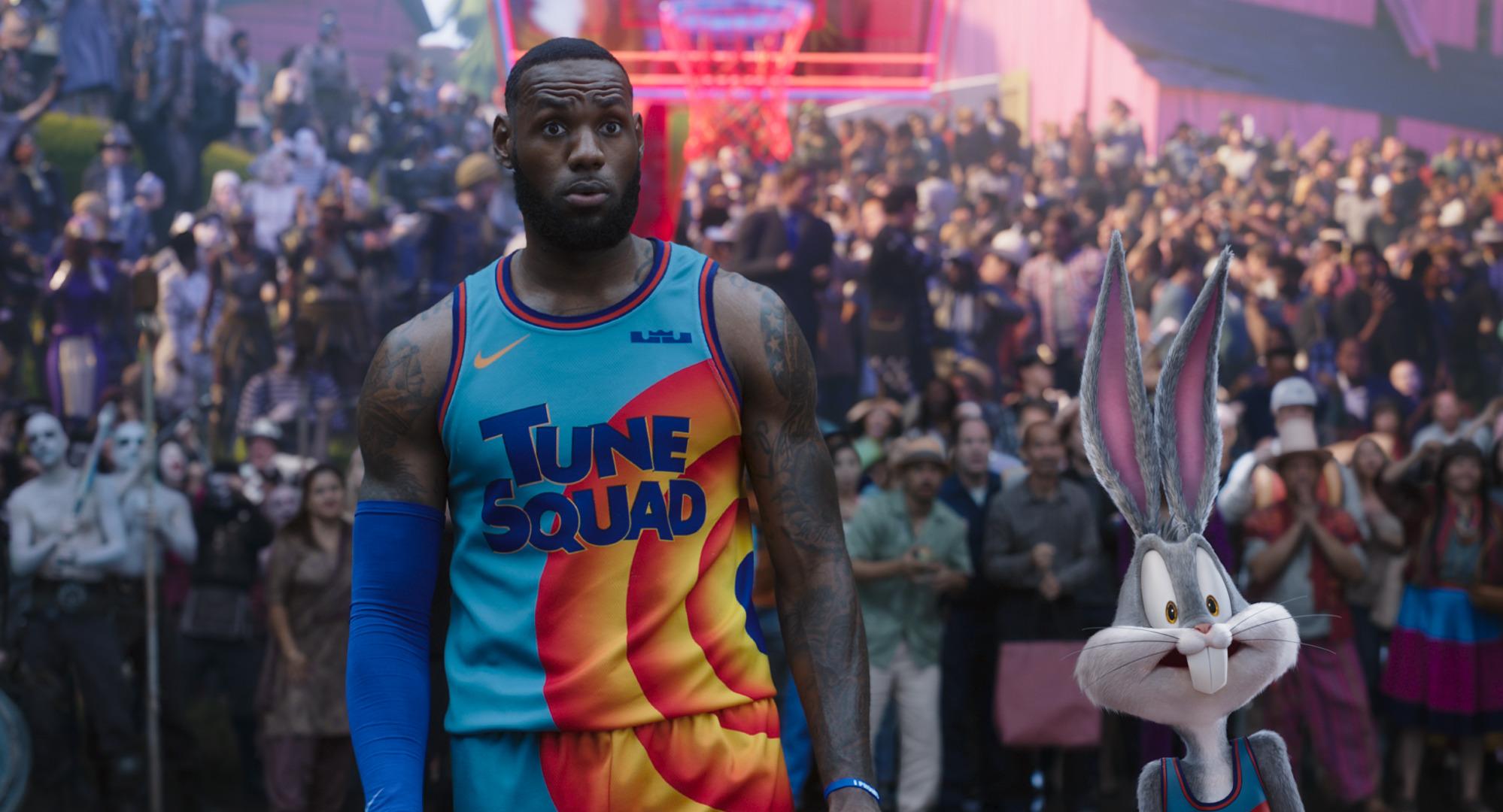 LeBron James and Bugs Bunny